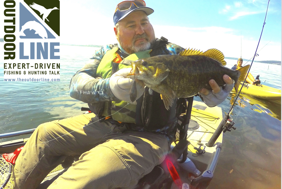 Spring bass fishing the outdoorline radio show kayak for Spring bass fishing
